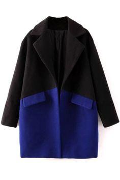 Glamorous Color-Blocked Coat