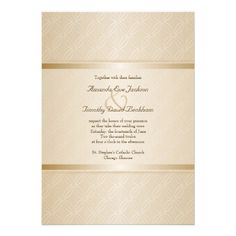 Starlight Golden Flare Monogrammed Elegant Wedding Custom Announcements