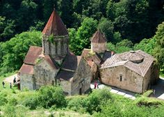 "Haghartsin Monastery, near Dilijan, northern Armenia. It was built between the 10th and 14th century. While it is no longer a ""working monastery"" with live-in monks or nuns, it is still an active place of worship with a beautiful interior."