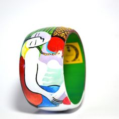 Bracciale in legno dipinto a mano – Il Sogno – Picasso