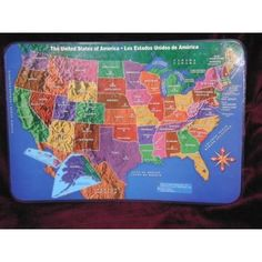 The United States of America USA Placemat - Maps