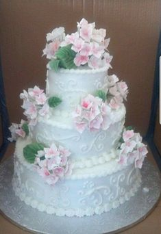 Spring glamorous wedding coral silver and white handmade sugar hydrangea flowers and buttercream flowers are handmade sugar pale pink light green and mightylinksfo Choice Image