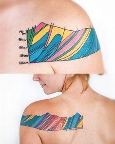 http://tattoo-ideas.us/wp-content/uploads/2013/11/Geology-Tattoo.jpg Geology Tattoo #Backtattoos, #Shouldertattoos