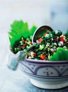 Libanesisk tabbouleh | Mad & Bolig Lchf, Acai Bowl, Ost, Dishes, Breakfast, Middle, Lemon, Bulgur, Vegans