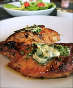 Grilled Chicken with Basil Butter