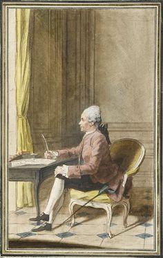 La Beaumelle, 1772 by Louis Carrogis Carmontelle (1717-1806) (Chantilly)