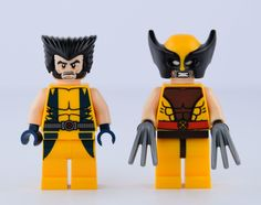Two minifig X-men Wolverine cool and rare in the sets 76022 X-Men vs. The Sentinel and 6866 Wolverine's Chopper. Original picture by me