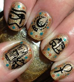 Egyptian Art Nails...this but a little less complex :p