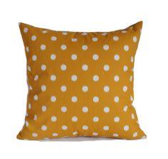 Yellow Outdoor Pillows, 18x18, Outdoor Pillow Covers, Outdoor Throw Pillow,  Polka Dot