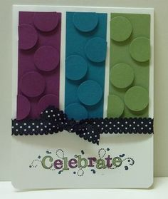 Omg LOVE these colors together & circles......love it, might have to make a card like this soon.