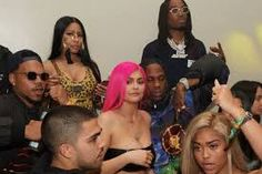 Kylie Jenner And Travis Scott Kylie Jenner And Travis Scott Attend Same Party As Her Ex Tyga. Kylie Jenner, who ran into Tyga and hi. Kylie Jenner Coachella, Coachella 2018, Kylie Jenner Pink Hair, Kylie Jenner Tyga, Kardashian Jenner, Kourtney Kardashian, Kardashian Family, Familia Kardashian, Travis Scott Kylie Jenner