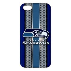 Seattle Seahawks Style Metal Design iPhone 5 5s Hardshell Case Cover