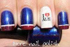 As you have probably heard, the summer Olympics start on Friday, July We can't wait until we can sit down, relax and watch the world compete in the most exciting competition since The Hunger Games. Easy Nail Art, Cool Nail Art, Country Nail Art, Nail Polish Combinations, Nail Polish Style, Flag Nails, Effie Trinket, Basic Nails, Polish