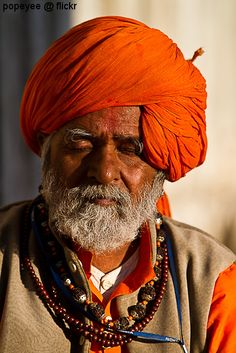 India. Rajasthani men. I would like to talk to him. I think he knows how to live wisely... From him comes the amazing peace and tranquility. I love this photo too much