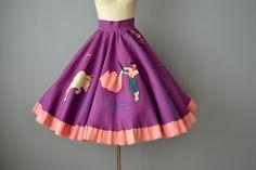 50s Circle Skirt // 1950s Juli Lynne Charlot by OffBroadwayVintage