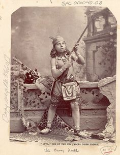"Otto, son of the Nez Percés Chief Joseph (aka Joseph II). No date. Photo by ""unknown""."