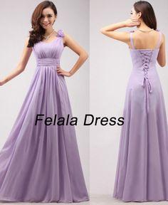 Long bridesmaid dress  chiffon evening dress / long by FelalaDress, $99.00