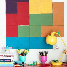 Your workspace should be as fun and colorful as possible...and these Tetris Bulletin Boards are here to help!