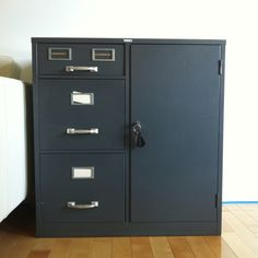 My very own filing cabinet (with A SAFE on the right side)! Soon to receive some awesome makeover/styling.  sc 1 st  Pinterest & DIY Filing Cabinet Desk | Repurposed Furniture | Pinterest | Filing ...