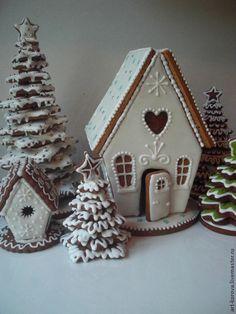 Новый год 2015 ручной работы. Ярмарка Мастеров - ручная работа Пряничный домик на Новый год, Рождество. Handmade.