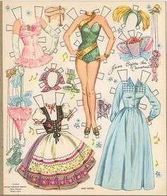 """1500 free paper dolls at artist Arielle Gabriel""""s The International Paper Doll Society also free China paper dolls The China Adventures of Arielle Gabriel * Barbie Paper Dolls, Vintage Paper Dolls, Paper Dolls Dresses, Vintage Toys, Paper Toys, Paper Crafts, Paper Doll Craft, Paper Puppets, Jane Powell"""