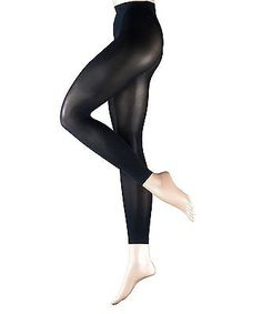 d7d5d1691586f Falke 40789 Pure Matte 50 Legging Black Small for sale online   eBay