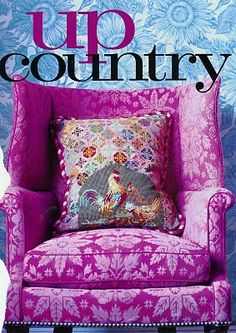 What a delicious chair update! Definitely Up Country;) Diamond Barratta