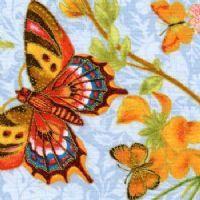 Gorgeous Butterflies on Light Blue by Hoffman