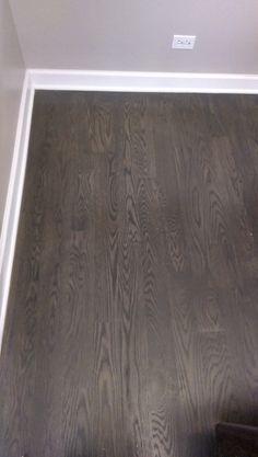 new color from bona red oak flooring Hardwood Floor Stain Colors, Grey Hardwood Floors, Red Oak Floors, Installing Hardwood Floors, Wood Stain Colors, Engineered Hardwood Flooring, Oak Flooring, Flooring Types, Flooring Ideas