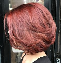 Brightest Medium Layered Haircuts to Light You Up Layered Bob For Thick HairLayered Bob For Thick Hair Bob Hairstyles 2018, Bob Hairstyles For Thick, Long Bob Haircuts, Summer Hairstyles, Layered Hairstyles, Newest Hairstyles, Thick Hair Bob Haircut, Medium Length Hair With Layers, Medium Hair Cuts