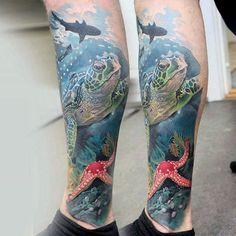 100 Animal Tattoos For Men – Cool Living Creature Design Ideas Mens Ocean Themed Animal Leg Sleeve Tattoo Tribal Tattoos, Ocean Sleeve Tattoos, Animal Sleeve Tattoo, Leg Sleeve Tattoo, Full Sleeve Tattoos, Trendy Tattoos, Leg Tattoos, Shoulder Tattoo, Tattoos For Guys