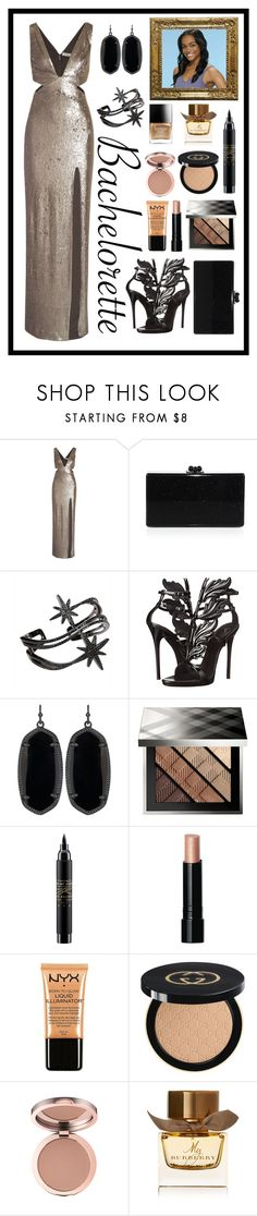 """Single But Sexy"" by stella-patricia ❤ liked on Polyvore featuring Halston Heritage, Edie Parker, APM Monaco, Giuseppe Zanotti, Kendra Scott, Burberry, MAC Cosmetics, Bobbi Brown Cosmetics, Charlotte Russe and Gucci"