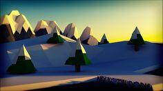 3D Low Poly Landscape by SkullDodle