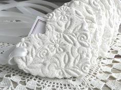 Large Personalized Imprinted Heart Wedding / Baptism Favors Set of 12 Salt Dough Wholesale Ornaments