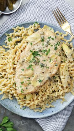 Recipe with video instructions: Thin chicken breasts pair perfectly with a delicious artichoke sauce, perfect for topping your fave pasta. Ingredients: 1 pound long fusilli pasta, or linguini, Artichoke Sauce, Artichoke Chicken, Fusilli, Pasta Recipes, Chicken Recipes, Cooking Recipes, Thin Chicken Cutlet Recipes, Pollo Piccata, Chicken Cutlets