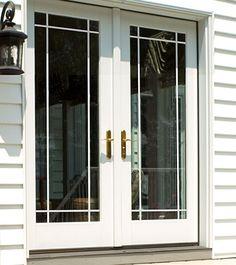 ODL Clear door glass - Grilles between glass: prairie style grille www.homedecorwindowsanddoors.com