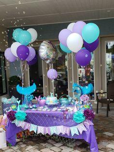 Mermaid Birthday Decorations, Mermaid Theme Birthday, Girl Birthday Themes, Little Mermaid Birthday, 4th Birthday Parties, 5th Birthday, Birthday Ideas, Mermaid Parties, Diy Pins