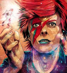 """85 Likes, 1 Comments - Chico - All Sizes (@lojachico) on Instagram: """"⚡️Belíssima ilustração feita pelo artista @wendellnarkedmi em homenagem ao Mestre David Bowie! …"""""""