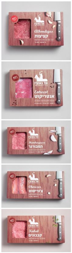 The whole El Gaucho packaging series.  Great #packaging #design for meat curated by Packaging Diva PD