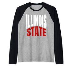 State Of Illinois IL Pride Travel Culture Raglan Baseball Tee Raglan Baseball Tee, Culture Travel, S Star, Branded T Shirts, Illinois, Fashion Brands, Pride, Man Shop