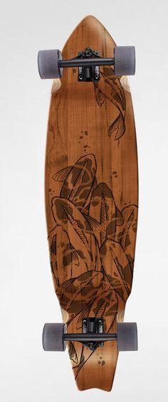 Custom Koi Longboard by Luiza Kwiatkowska.