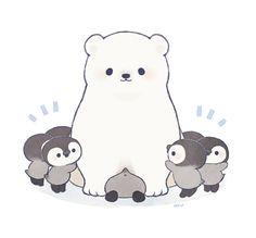 Polar Bear and penguins