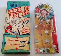 Items similar to Wheel Of Fortune Tabletop Pinball Game w/Box Vintage FREE SHIP 1953 Marx Bagatelle Rare Highly Sought After Collectable Toy Push Em Up Toy on Etsy Classic Board Games, Vintage Board Games, Antique Toys, Vintage Toys, Games W, Baby Boomer, Wheel Of Fortune, Designer Toys, Beetlejuice