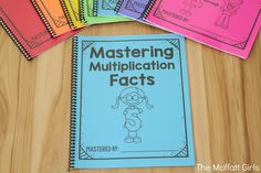 Mastering multiplication facts is such an important skill for grade students. As a former grade teacher, I fully understand how crip Multiplication Facts, Math Facts, Math For Kids, Fun Math, Maths, Math Resources, Math Activities, Montessori Math, Math Words
