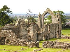 The ruins of Haughmond Abbey, burial place of Alice of Saluzzo.  Alice of Saluzzo (d.1292), was a daughter of Thomas I, 4th Margrave of Saluzzo (Province of Cuneo, Piedmont, Italy), & Luigia di Ceva.  She married Sir Richard Fitzalan, 8th Earl of Arundel & had 4 children. Alice was one of the first Italian women to marry into an English noble family.