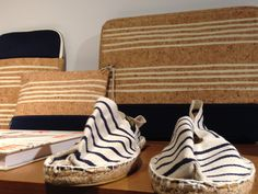 Espradilles and Cases #raval #jute #cork #innovation #inspiration #unusualoccurence #stripes #print #neoprene #designdetail
