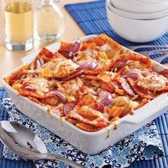 Gratin de raviolis aux légumes grillés - Recettes - Cuisine et nutrition - Pratico Pratique