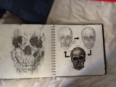 A skull made of people holding hands