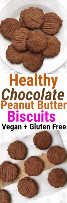 Peanut Butter Chocolate Vegan Biscuits