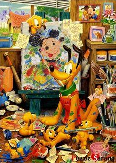 "Jigsaw Puzzles 2000 Pieces ""Pluto's Pictures"" Disney Tenyo   eBay"